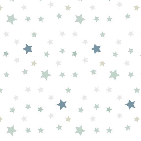 Groen sterren naadloos patroon vector