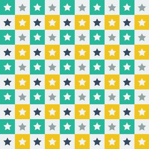 Het groene en gele patroon van de stertegel vector
