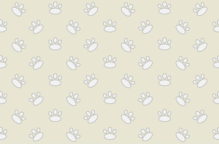 Dierlijke voetafdruk naadloos patroon vector