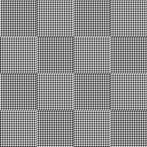 Patrón de cuadros sin costuras de pata de gallo en blanco y negro