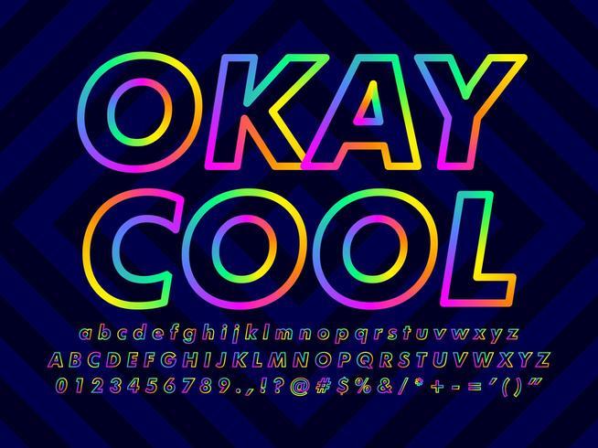 Efecto de texto colorido minimalista vector
