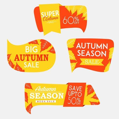 Mooie herfst labels-collectie vector