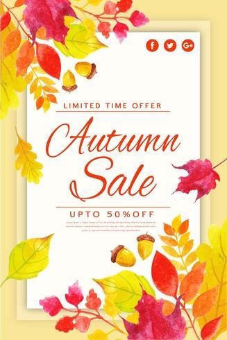 Herfstbladeren verkoop Poster vector