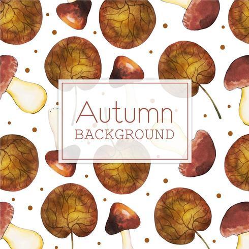 Beautiful Watercolor Autumn mushrooms vector