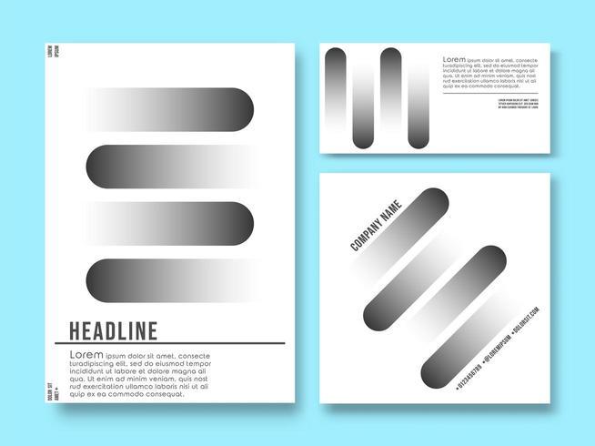 Set di modelli di prodotti stampati. Sfondo minimal design geometrico vettore