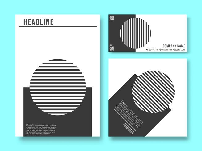 Set of printed products templates vector
