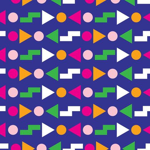 Disegno geometrico senza cuciture anni '80