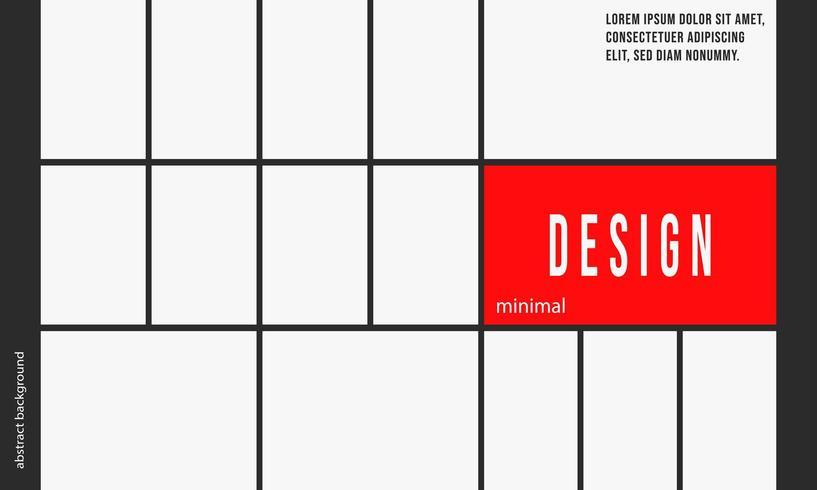 Modelo de plano de fundo de design minimalista vetor