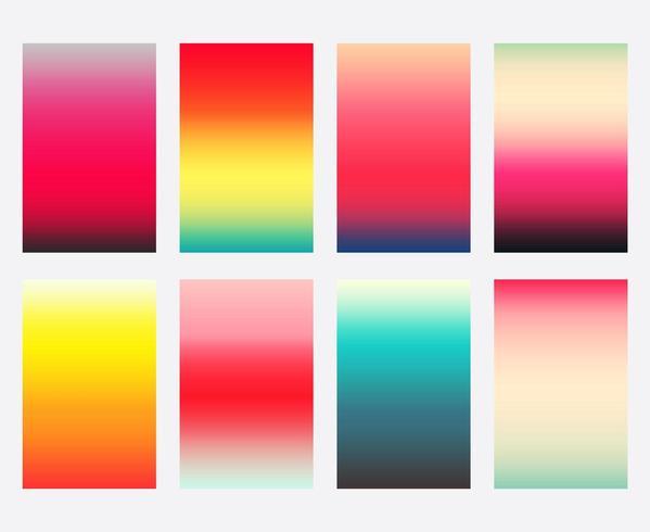 Conjunto de plantilla de cubiertas de degradado colorido vector
