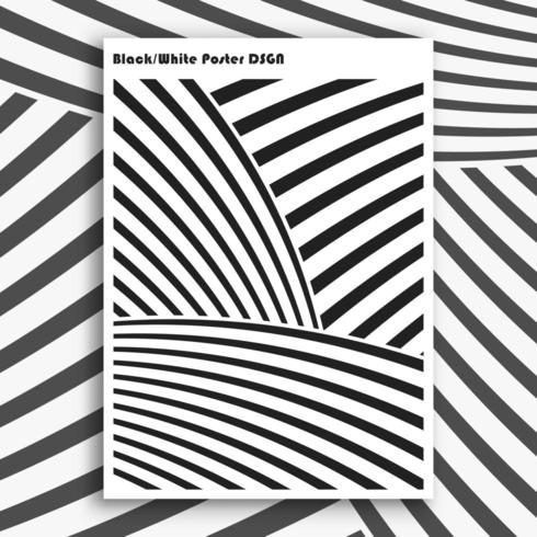 Black and white interior poster vector