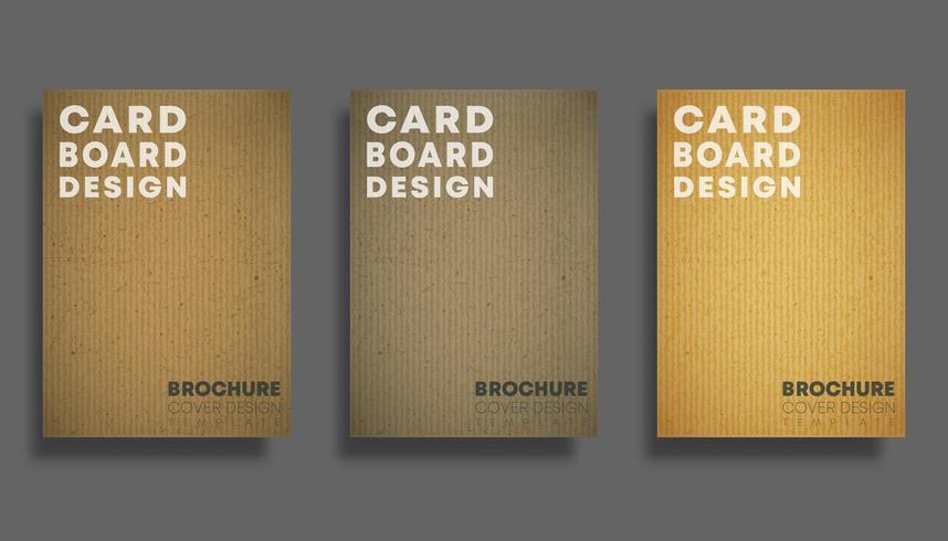 Satz Hintergründe mit Pappbeschaffenheitsmuster. Design für Flyer, Poster, Prospektcover, Typografie oder andere Druckprodukte