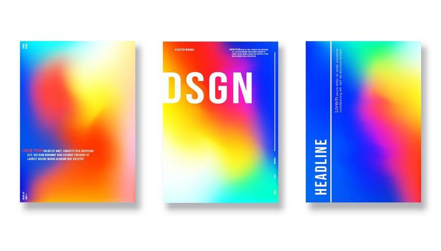 Diseño de portada abstracta. Fondo de vector colorido degradado