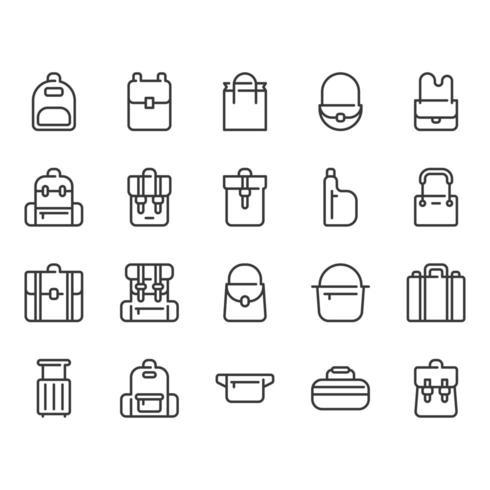 Jeu d'icônes de sac vecteur