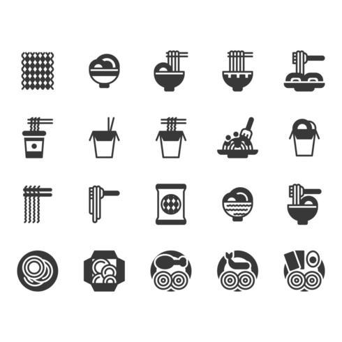 Nudel-Icon-Set