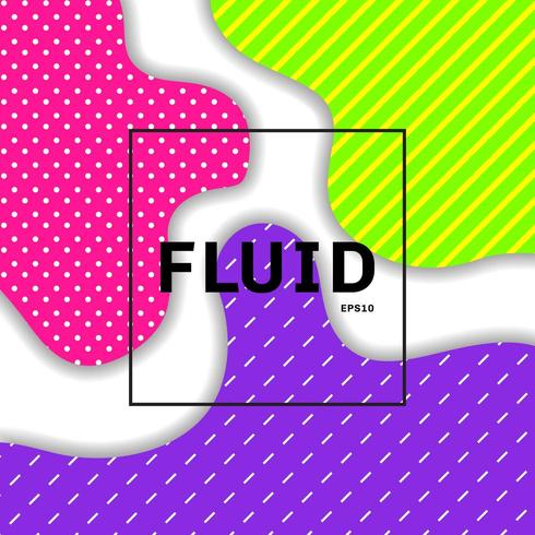 Abstract fluid or liquid vibrant color background vector