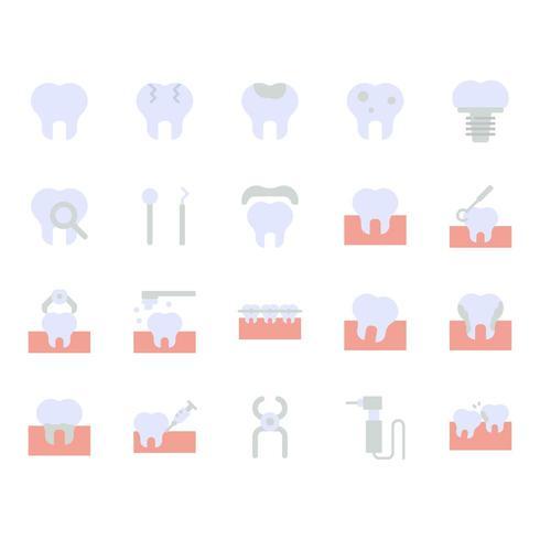 Jeu d'icônes dentaires vecteur