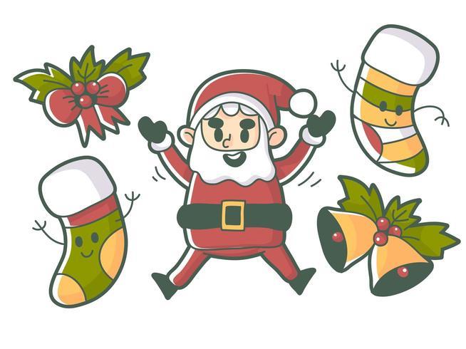 Vettore premio degli elementi di evento di Natale