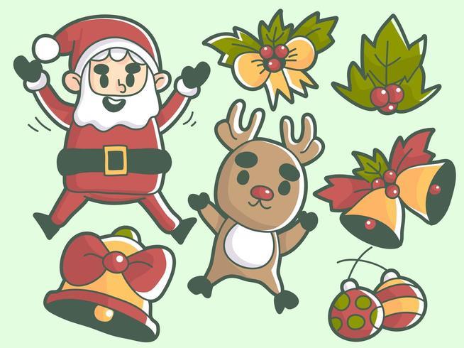 Christmas event elements premium vector