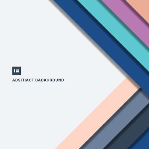 Modèle de conception abstraite couche de superposition géométrique colorée couche rayée diagonale sur l'espace de fond blanc pour votre texte vecteur
