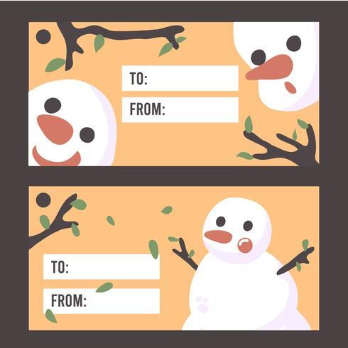 Vecteur premium éléments de carte bonhomme de neige de Noël