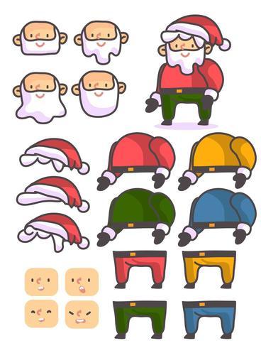 Carattere personalizzato di Babbo Natale vettore