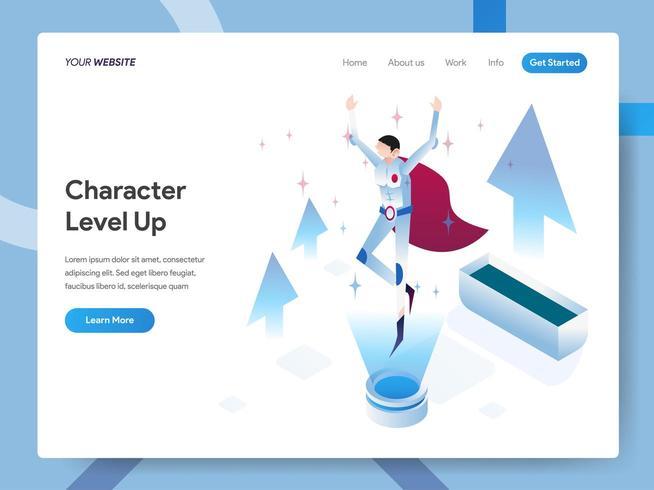 Modello di pagina di destinazione di Level Up
