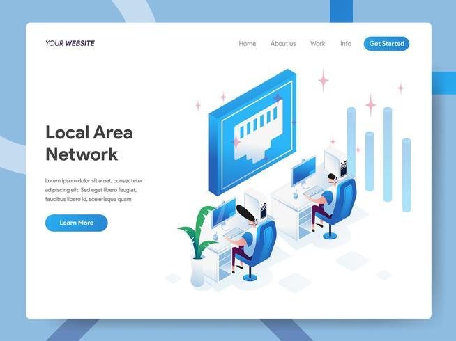 Modello di pagina di destinazione della rete locale