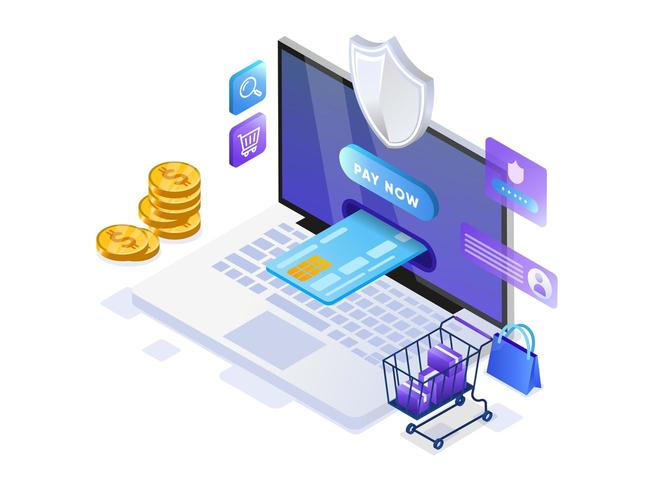 Paiement mobile ou transfert d'argent avec le concept d'ordinateur portable.
