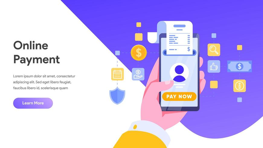 Mobile payment or money transfer concept. vector