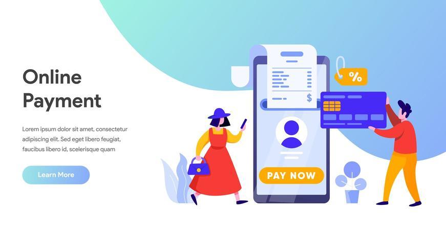 Mobiel betalingsoverdrachtconcept