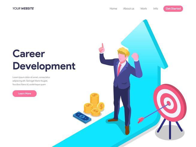 Concetto di sviluppo di carriera della pagina di destinazione vettore
