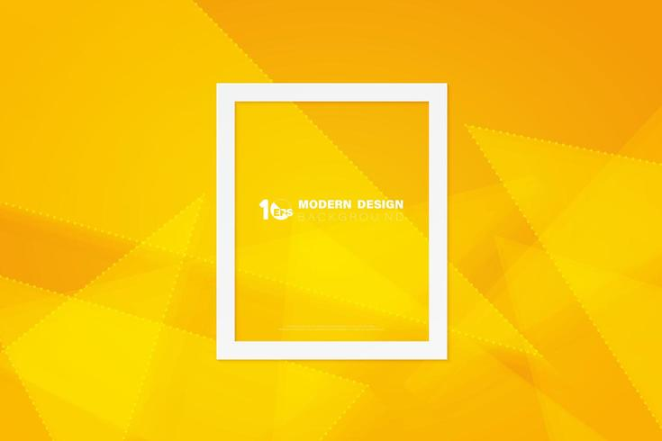 Abstract yellow triangle of geometric design vector