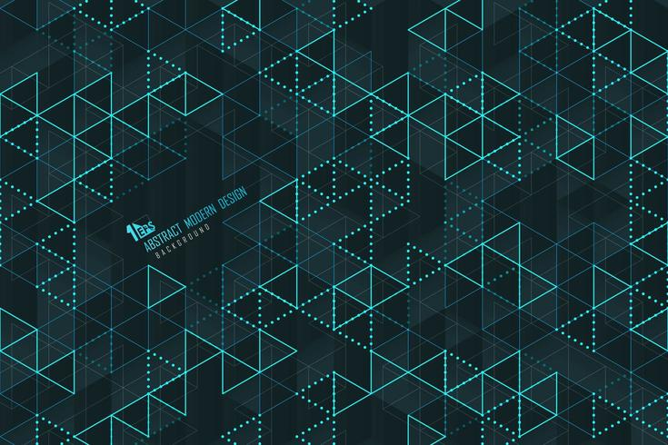 Abstract blue triangle lines of technology template  vector