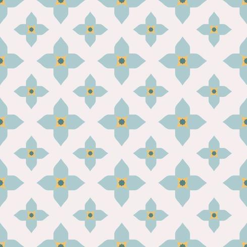 Geometric Floral Tiles Pattern vector