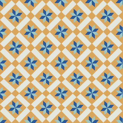 Orange And Blue Tiles Pattern vector