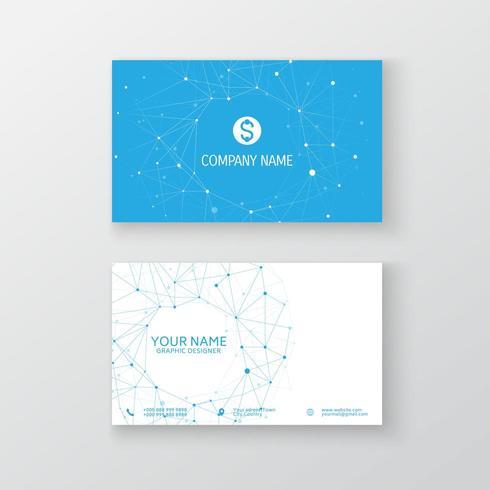 Modello di biglietto da visita di rete moderna