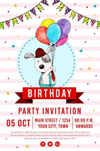 Happy Birthday Party Poster