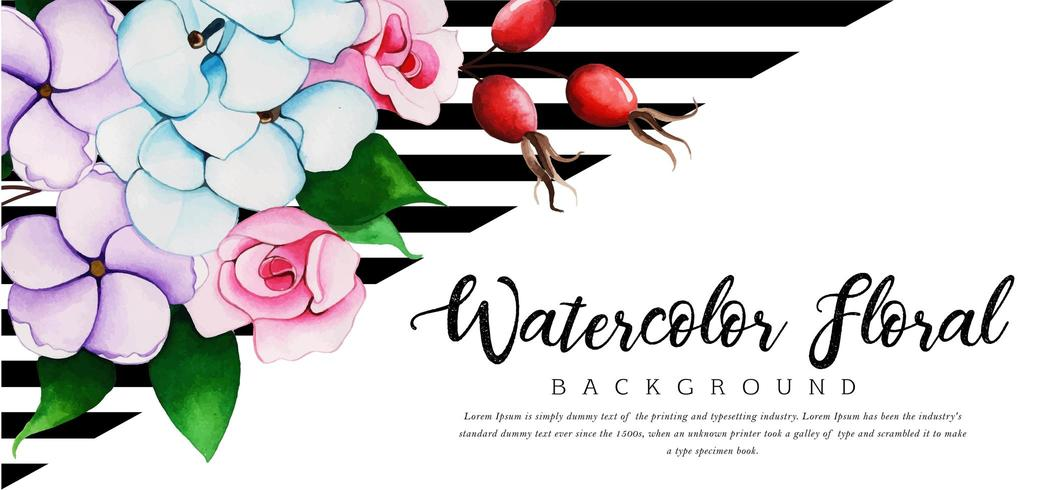 Beautiful Watercolor Floral Background vector