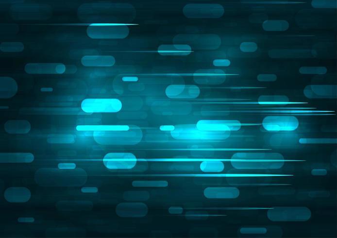 Geschwindigkeitsbewegungsmuster und Bewegungsunschärfe über dunkelblauem Hintergrund. vektor