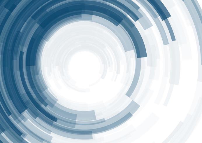 Sfondo astratto con strisce blu cerchio. vettore