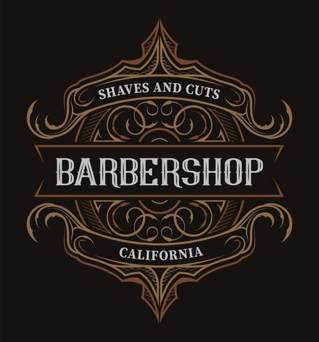 Scritte vintage per il barbiere vettore