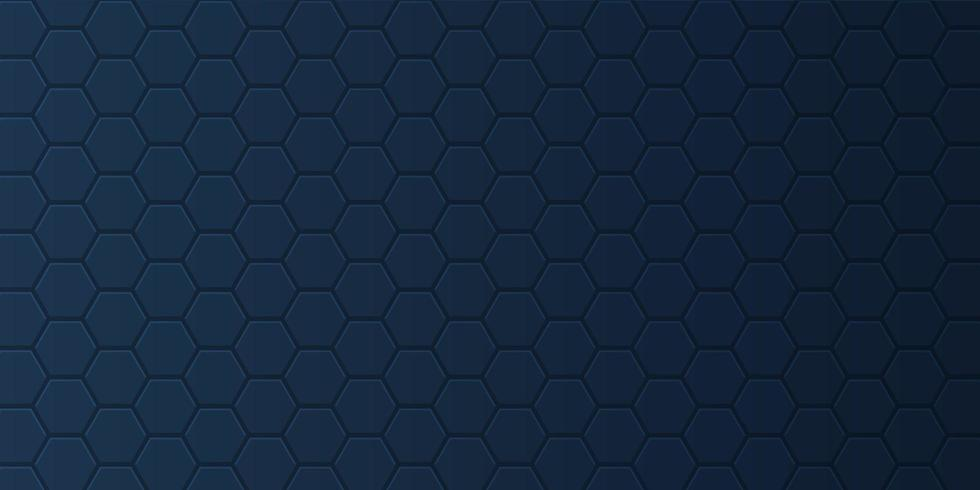 Banner with hexagonal pattern