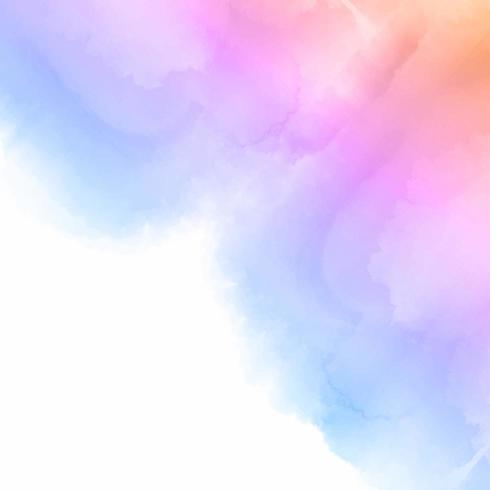 Fondo acuarela de color pastel vector
