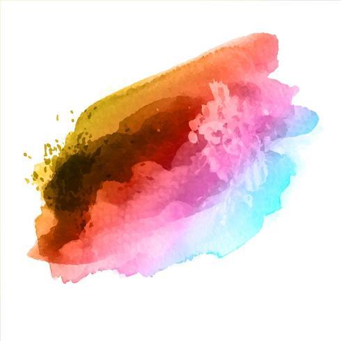 Salpicaduras de acuarela arcoiris vector
