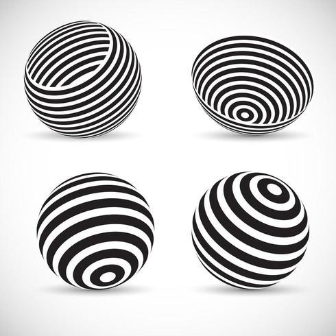 Gestreepte sferische ontwerpen