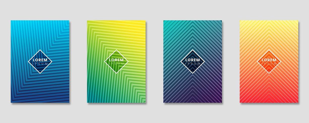 Uppsättning designmalluppsättning med abstrakta linjer