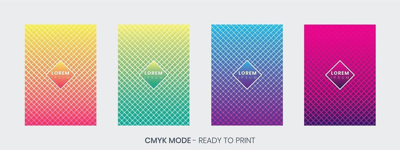 Conjunto de modelos de design de capa mínima vetor