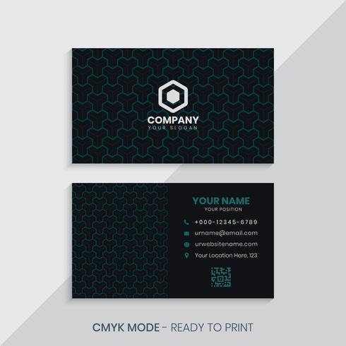 Geometric Pattern Business Card vector