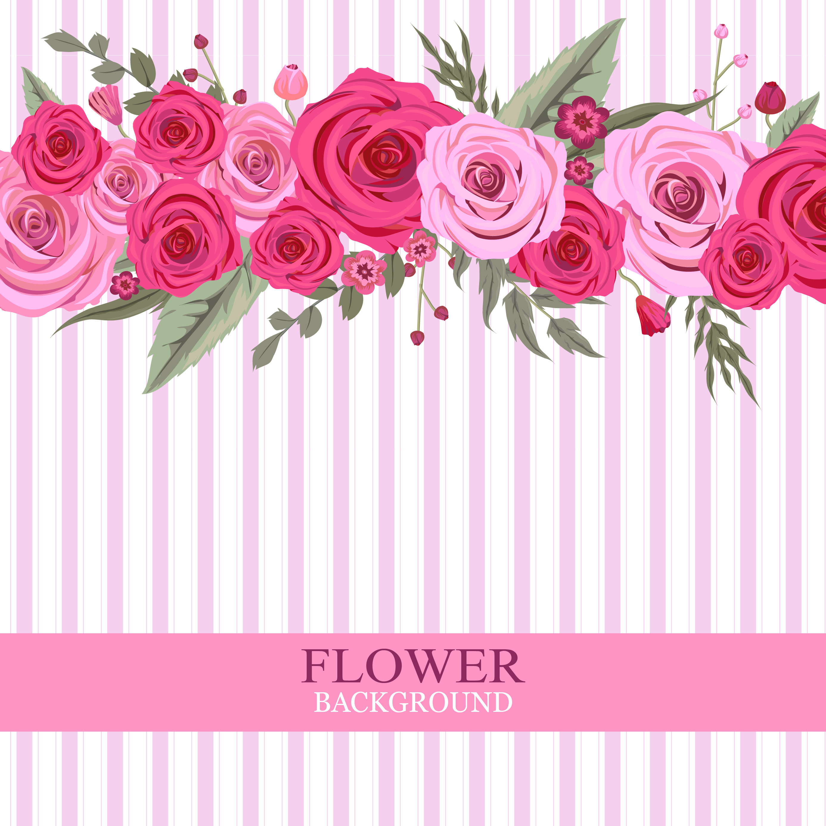 Pink Rose Flower Background Download Free Vectors Clipart