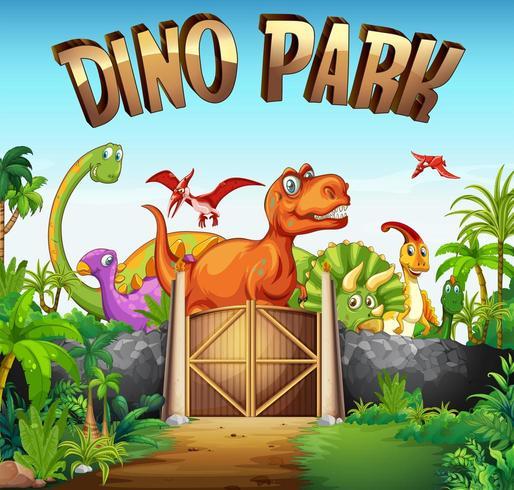 Parc plein de dinosaures